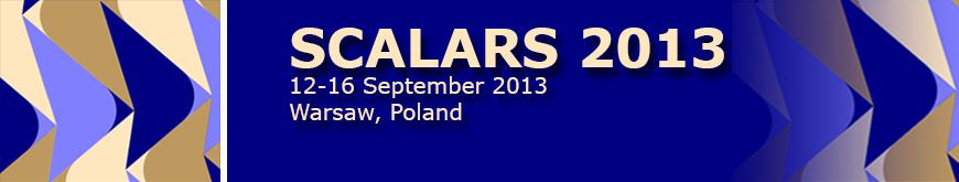 Scalars 2013